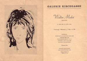 Personale Madoi Galerie Kirchgasse 1961